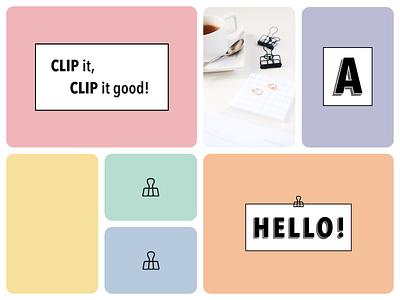Hello Clip Branding personal brand personal personal project pastel clip brand identity personal logo personal branding brand branding