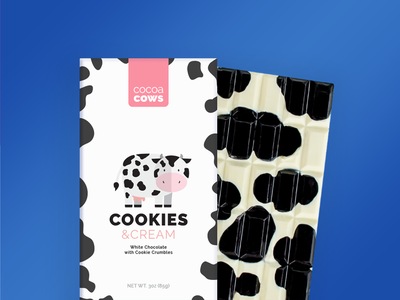 Cow Chocolate Bars illustration moo cows cocoa cow chocolates chocolate packaging chocolate bar