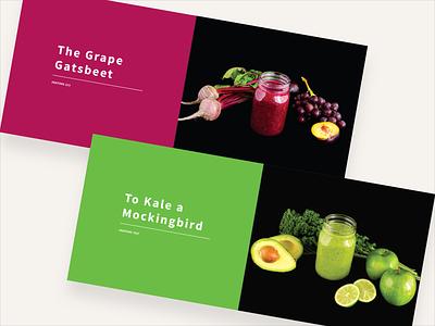 Pantone Smoothie Book pantone book layout book layout design smoothies smoothie vegetable vegetables fruits fruit recipes recipe book book design book
