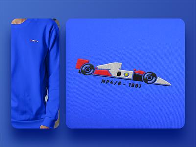 Vintage Inspired F1 Car Embroidery merch design merch gear shirt design shirt racing racing car racing logo formula 1 f1