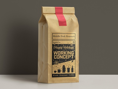 Kraft paper coffee labels