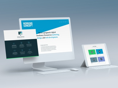 Agency website ui responsive website design