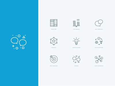 Consulting services icons