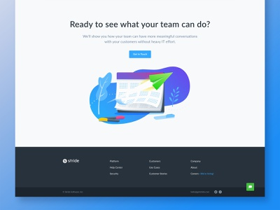 CTA and footer illustration cta footer web design