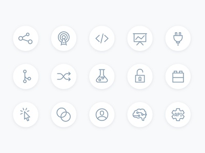 Platform Icons concepts icon set