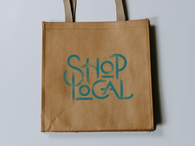 Shop local shop local typography