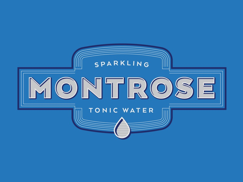 Logo for Montrose Sparkling Tonic Water lines 3d drop droplet icon vector branding logo illustrator water tonic sparkling
