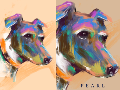 Pearl illustration dog illustration procreate