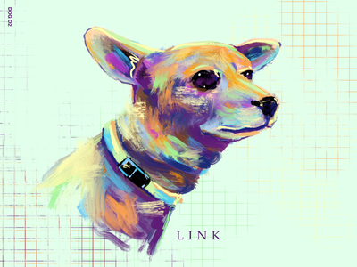 Link link mint color art digital illustration procreate