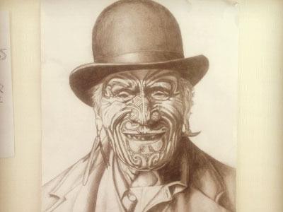 Goldie pencil sketch artwork print