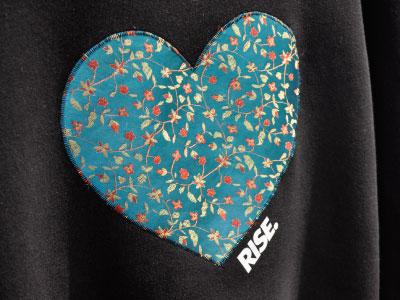 Heart fashion rise clothing street wear