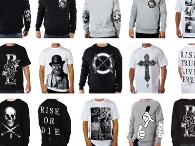 RISE Collection Development clothing fashion street wear design screen print brand marketing
