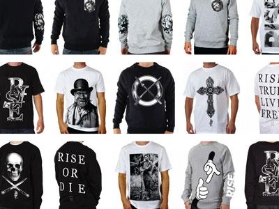 RISE Collection Development clothing fashion street wear design screen print brand marketing