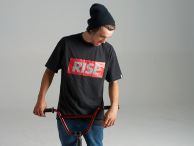 Photoshoot for RISE screen print fashion street wear rise clothing art photography