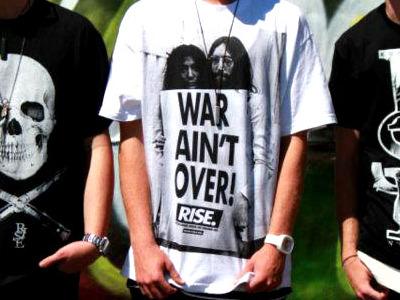 War Ain't Over Yo screen print fashion street wear rise clothing art photography