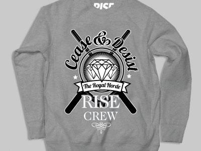 Cease Crew Sweatshirt rise streetwear clothing fashion screen print illustration illustrator art photoshop