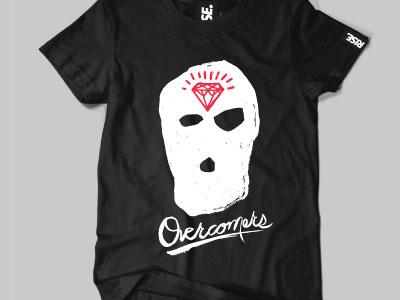 RISE Overcomers Tee rise streetwear clothing fashion screen print illustration illustrator art photoshop