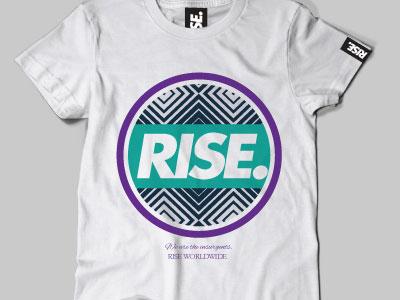 RISE tshirt rise streetwear clothing fashion screen print illustration illustrator art photoshop