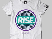 RISE tshirt rise streetwear clothing fashion screen print illustration illustrator art photoshop
