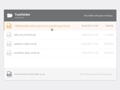 Flat File Listing directory minimal ui web design website ftp server list filetypes files selection