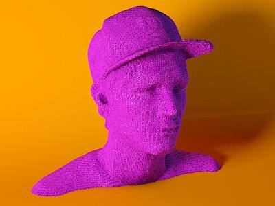 Rendering of a 3D Scan of me 3d rendering render scanner scan print neon cgi