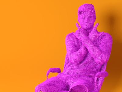 Another 3D Scan Test 3d rendering render scanner scan print neon cgi
