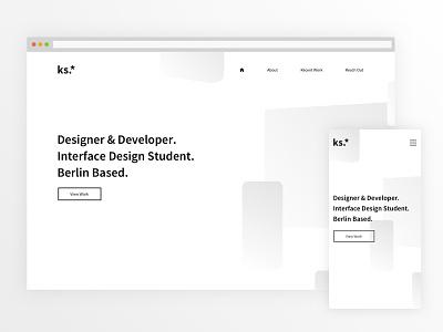 Personal Website bright ui design portfolio personal website