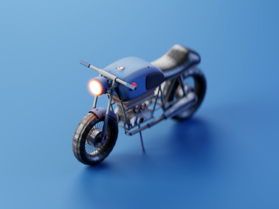 Cafe Racer blender highpoly lowpoly 3d bike 3d design design illustration isometric 3d model 3d illustration 3d motorcycle bike cafe racer