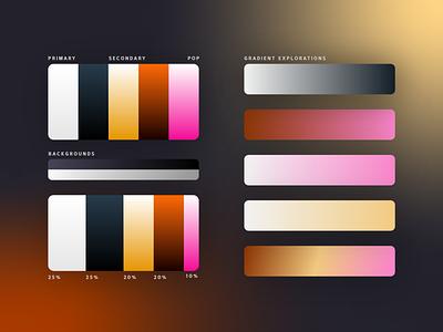 Color Palette Explorations color palettes brand design color themes color theory illustration design art ui gradients branding colors graphic design