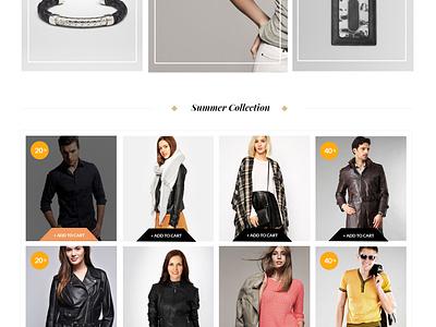 Shophia - FREE eCommerce Template clean modern web design website template flat freebie psd ecommerce