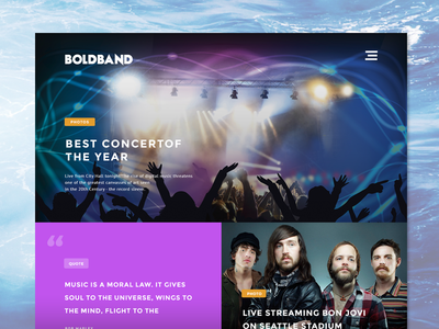 BoldBand Music Theme theme grid music