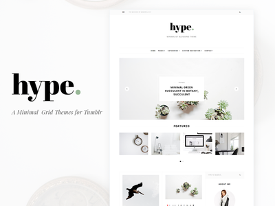 Hype Themes web grid minimal simple tumblr themes