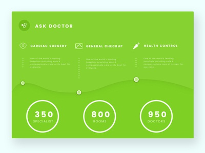 Ask Doctor Section modern clean health doctor section landing pages