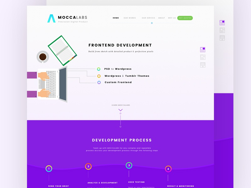[WIP] Startup Landing Pages company corporate web design ui startup landing pages