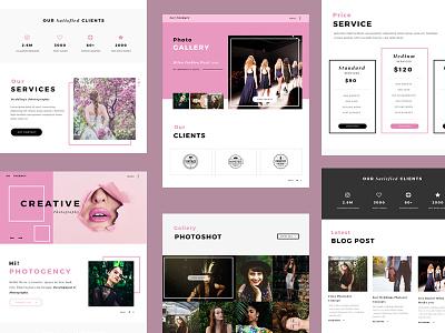 Wedding Photo Agency company profile landing page web agency wedding