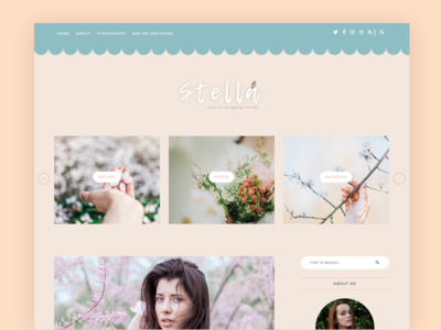 Stella blogger blog exclusive premium themes tumblr