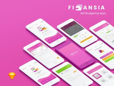 Finansia - Personal Budgeting Apps mobile apps finance ux ui