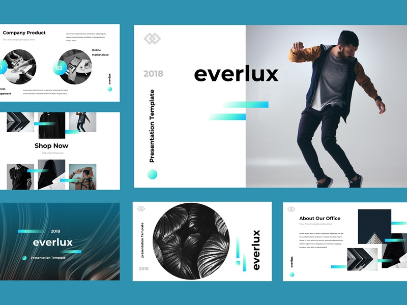 Everlux Presentation Template ui lookbook keynote presentation powerpoint template powerpoint