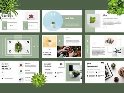 Botany Presentation Template presentation template powerpoint keynote presentation ui