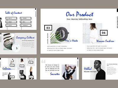 Standout Presentation Template ui template design powerpoint presentation keynote