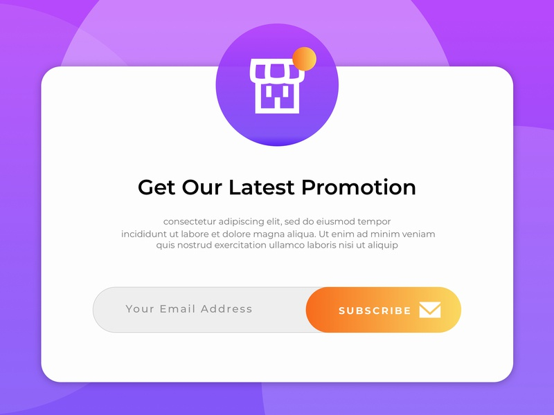 Pop-Up Modal Promotion design web ui