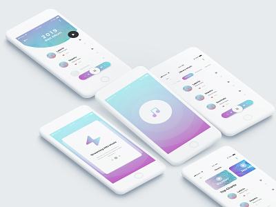 Exploration Music Apps mobile kit ui ios apps music album music app
