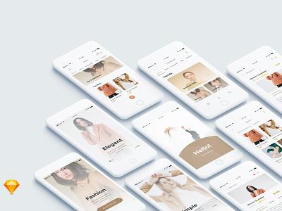 Exploration Shopping App clean minimal ios ui mobile web