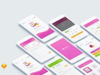 Finansia Budgeting App ios mobile design apps ui