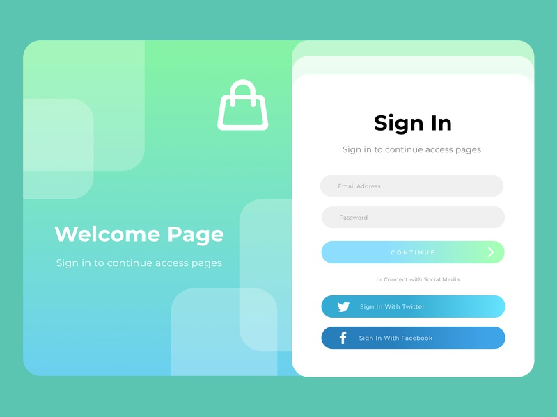 Exploration Login Page template vector illustration web ui