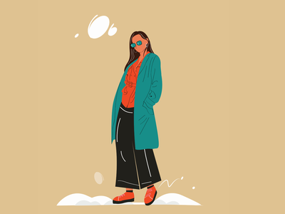 I woman animation portrait illustrator illustration graphic design design