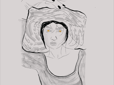 women woman portrait illustrator illustration graphic design design