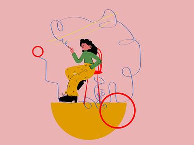 Artist animation woman illustrator illustration graphic design design
