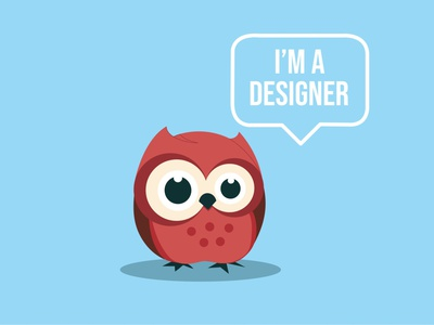 Tried recreating Holly Schofield's newbie owl.. logo design vector illustration graphic design