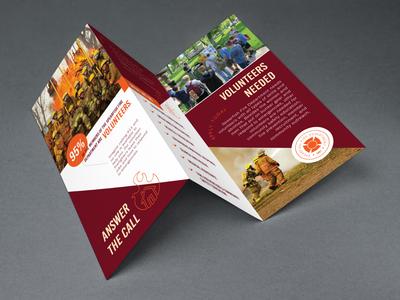 Volunteer Fire Department Brochure trifold volunteer fire department icons illustration brochure layout graphic design brochure